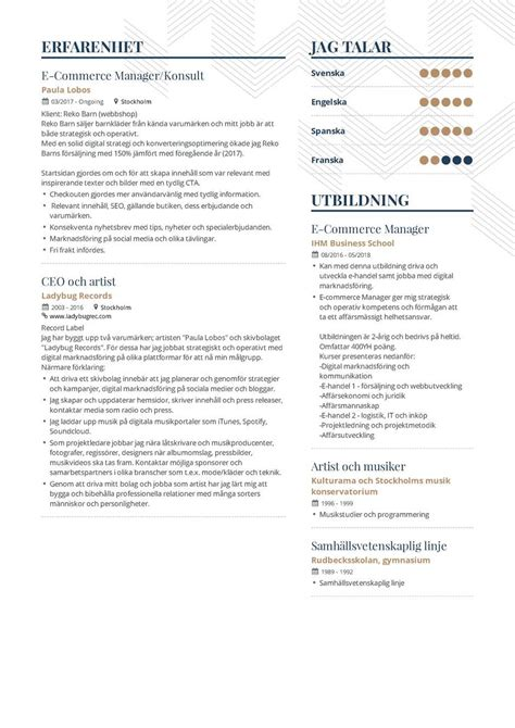 Sle Of A Resume Format by Best Marketing Cv Format Bangladesh