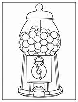 Coloring Gumball Machine Easy sketch template