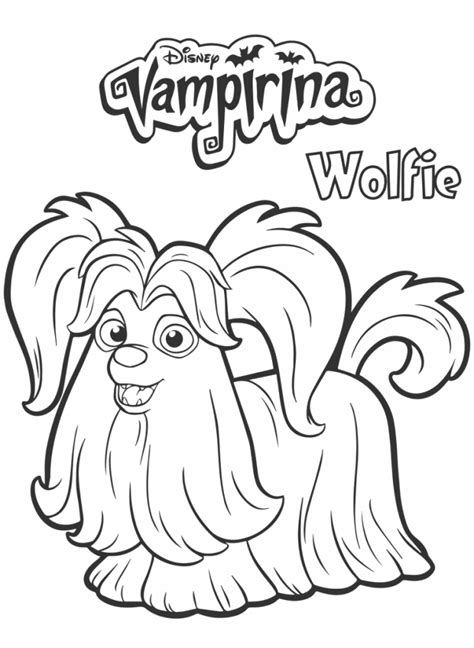 wolfie  vampirina coloring page colorinng pages