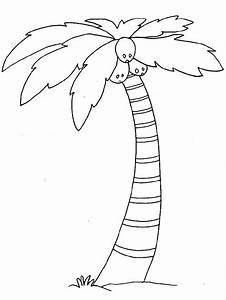 trees coloring pages for kids printable chicka chicka With chicka chicka boom boom palm tree template
