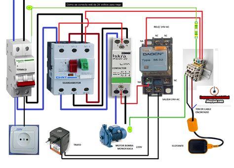 esquemas el 233 ctricos como conectar rele de 24voltios para riego electricidad