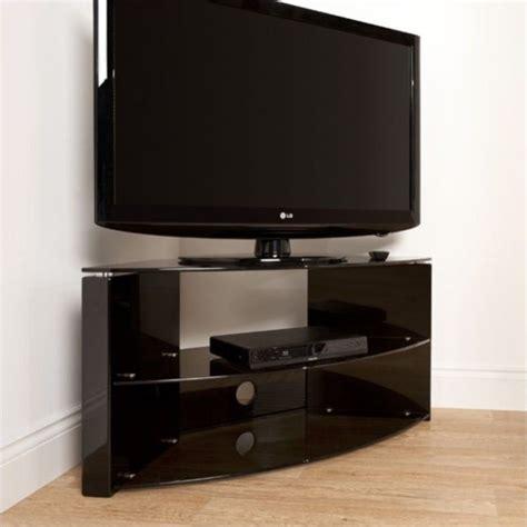 3 shelf tv stand 43 quot corner three shelf tv stand in black b3b