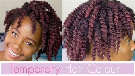 Temporary Red Hair Color On Natural 4c Hair