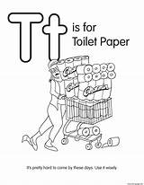 Paper Coloring Toilet Colouring Template sketch template