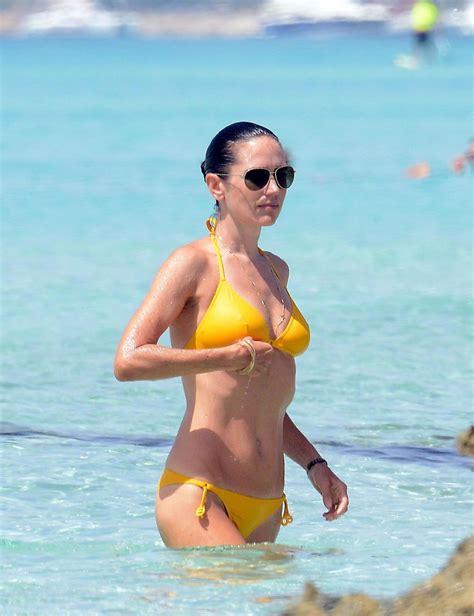 jennifer connelly jennifer connelly jennifer connelly in a yellow bikini beach in formentera