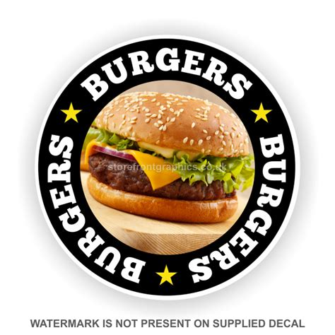 stickers protection cuisine burgers catering window sticker signs and graphics for