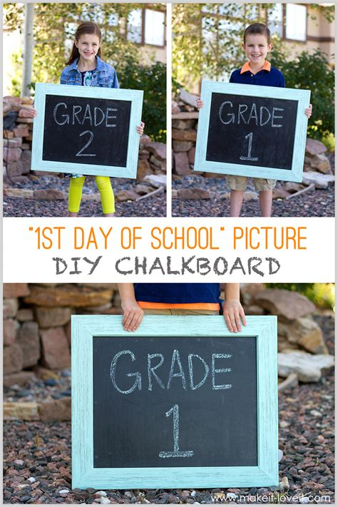 first day of school chalkboard quot day of school picture quot diy chalkboard re usable each year make it and it