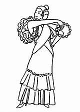 Flamenco Dancer Coloring Printable sketch template