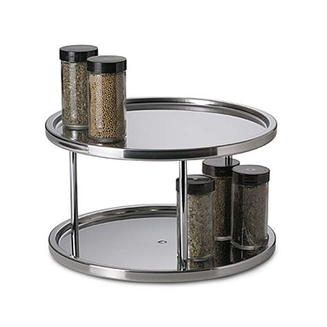 stainless steel  tier turntable bed bath