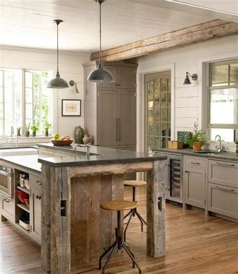 kitchens with large islands best 25 small rustic kitchens ideas on 6634