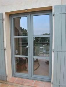 Fenetre Pvc Gris : pose de portes fenetres en pvc couleur gris beton a ~ Premium-room.com Idées de Décoration