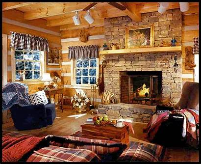 Fireplace Cozy Living Christmas Decoration Rooms Dream