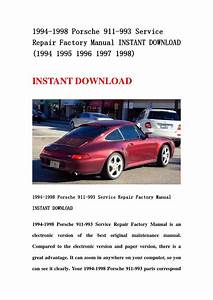 1994 1998 Porsche 911 993 Service Repair Factory Manual