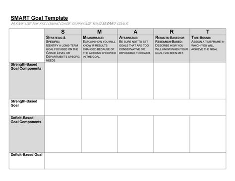 smart goals templates examples worksheets templatelab