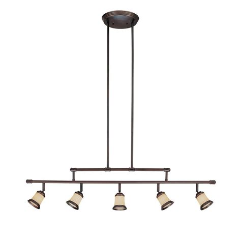 hton bay 5 light antique bronze adjustable height track