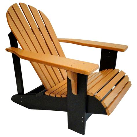 Two Tone Polywood Adirondack Chair  Evergreen Patio