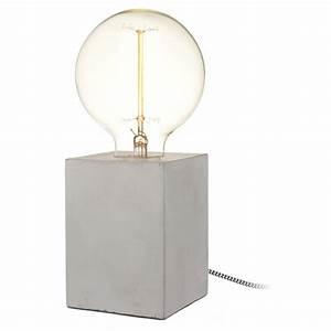 Lampe Industrie Look : tischlampe cube beton edison gl hbirne textilkabel kramsen ~ Markanthonyermac.com Haus und Dekorationen