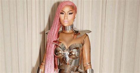 Nicki Minaj Struts Pink Lemonade Braids in her 'Motorsport