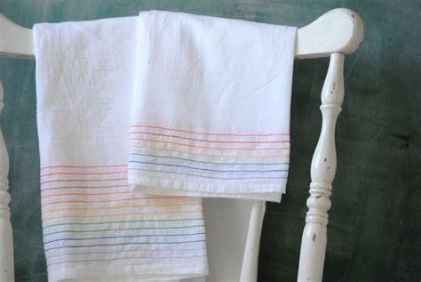 Kitchen Towel by Diy Rainbow Dish Towels