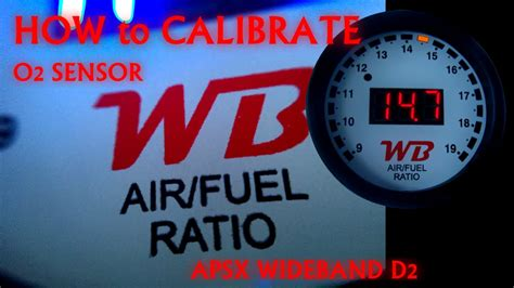How Calibrate Afr Gauge Open Air Youtube