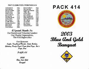 Cub scout resources from pack 414 for Cub scout blue and gold program template