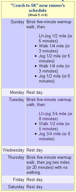 to 5k schedule cool running to 5k running plan weekly schedule