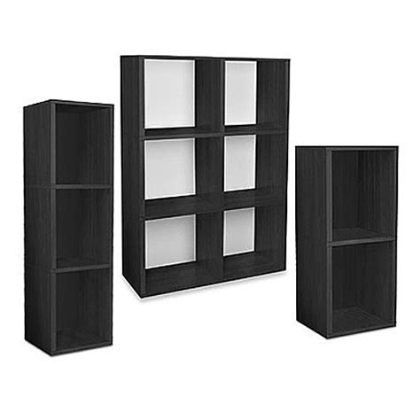 bed bath and beyond bookcase way basics tool free black bookcase and storage bed bath
