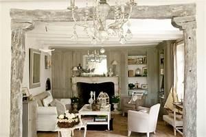 Jolie maison de campagne au design romantique en France