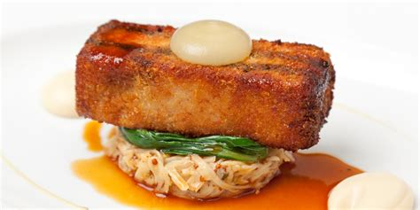 baked canapes crispy pork belly recipe great chefs
