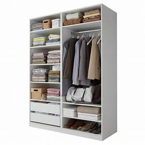 Dressing 150 Cm : dressing blanc largeur 150 cm darwin meubles pas cher ~ Teatrodelosmanantiales.com Idées de Décoration