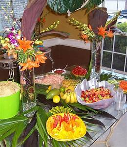 tropical party food; some of these look like good things