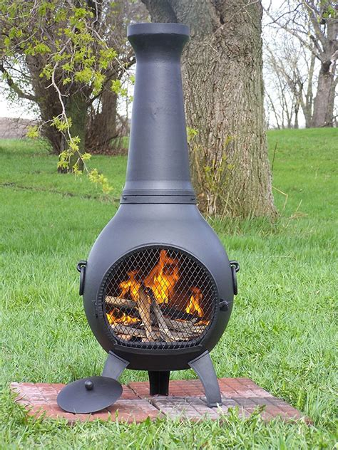 Outdoor Fireplace Chiminea - wood burning chiminea outdoor pit kiddingall