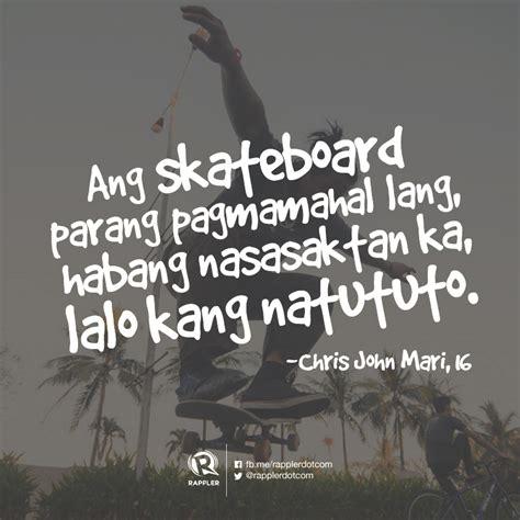 Skateboarding #Hugot lines