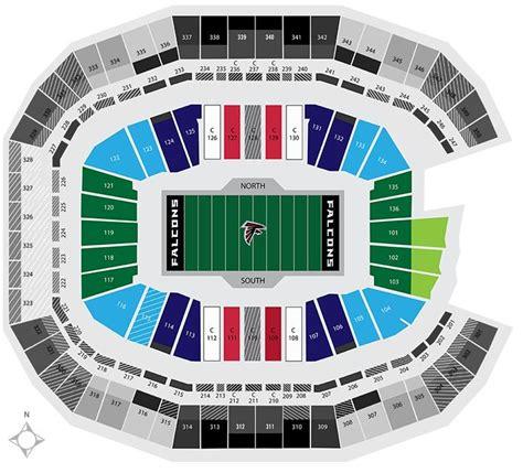 mercedes benz stadium seating chart atlanta falcons
