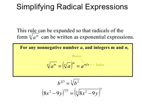 How To Do Simple Radical Form by Simplifying Radical Expressions Rational Exponents