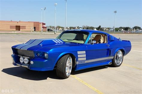 Your Ride 1967 Ford Mustang Blue Boss Custom