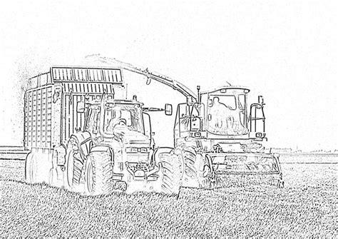 Kleurplaat Machines Landbouw by Kleurplaat Tractor Met Boer Kleurplaten Nl Binnen