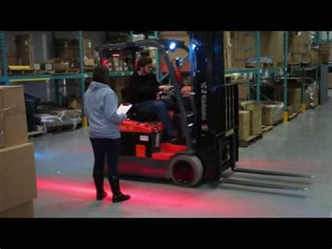 red zone safety light red zone pedestrian flashing light forklift red flashing