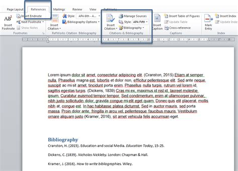 references in word reference management libguides at tritonia