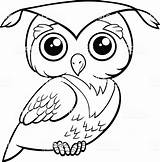 Owl Coloring Cartoon Owls Animal Snowy Drawing Clip Printable Illustration Bird Character Line Colouring Clipart Kleurplaat Uil Printables Popular Drawings sketch template