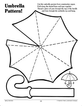 umbrella pattern printable arts crafts and skills sheets 736 | 9780439499620 008 xlg