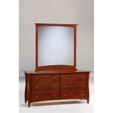6 Drawer Dresser With Mirror by Clove 6 Drawer Dresser Shown In Cherry Finish