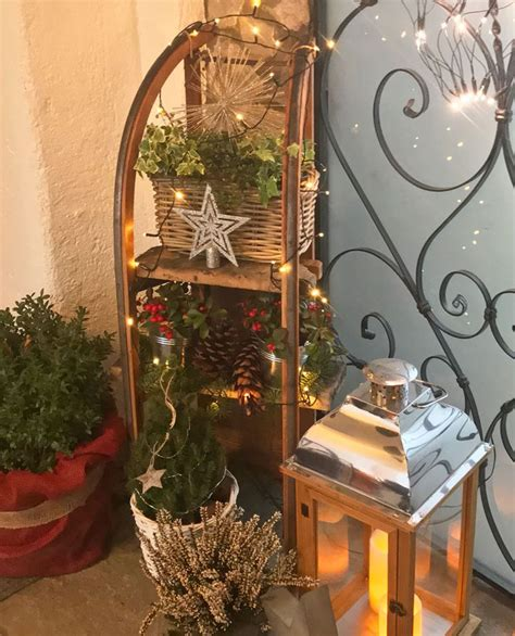 schlittendeko adventsdeko deko weihnachten schlitten