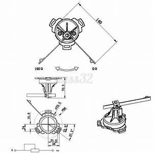 Dc 12v  24v Stainless Steel Rudder Angle Indicator Sensor