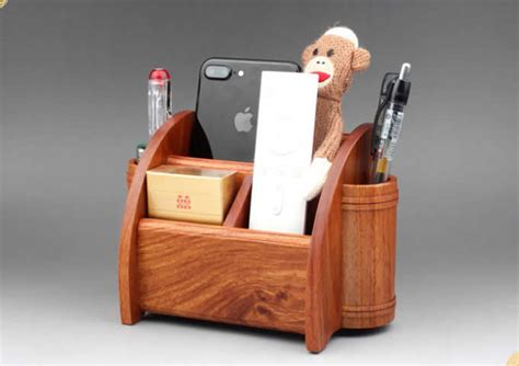 multifunction wood  pencil remote control plant holder