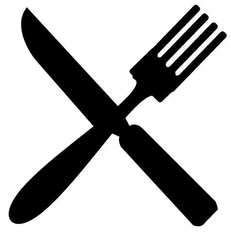 fork and knife clipart black and white fork and knife clipart clipartxtras