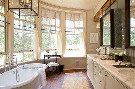 beautiful bathrooms  bay windows