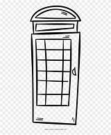 Phone Booth Coloring Pngfind sketch template