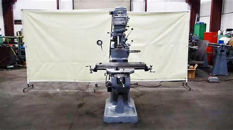bridgeport  hp    vertical milling machine youtube