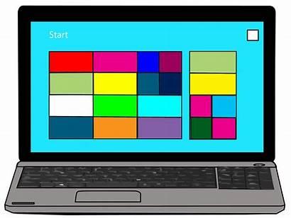 Computer Clipart Laptop Cliparts Domain Clipartmag Resources